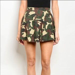 Playful and Unique Camouflage skater skirt